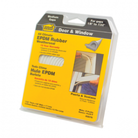 M-D Medium Gap White EPDM Weatherseal