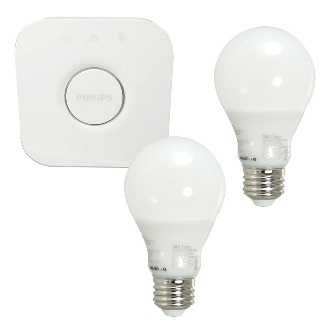 Philips Hue 9w Whit A19 Starter Kit (2-pack)