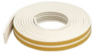 M-D Small Gap White EPDM Weatherseal